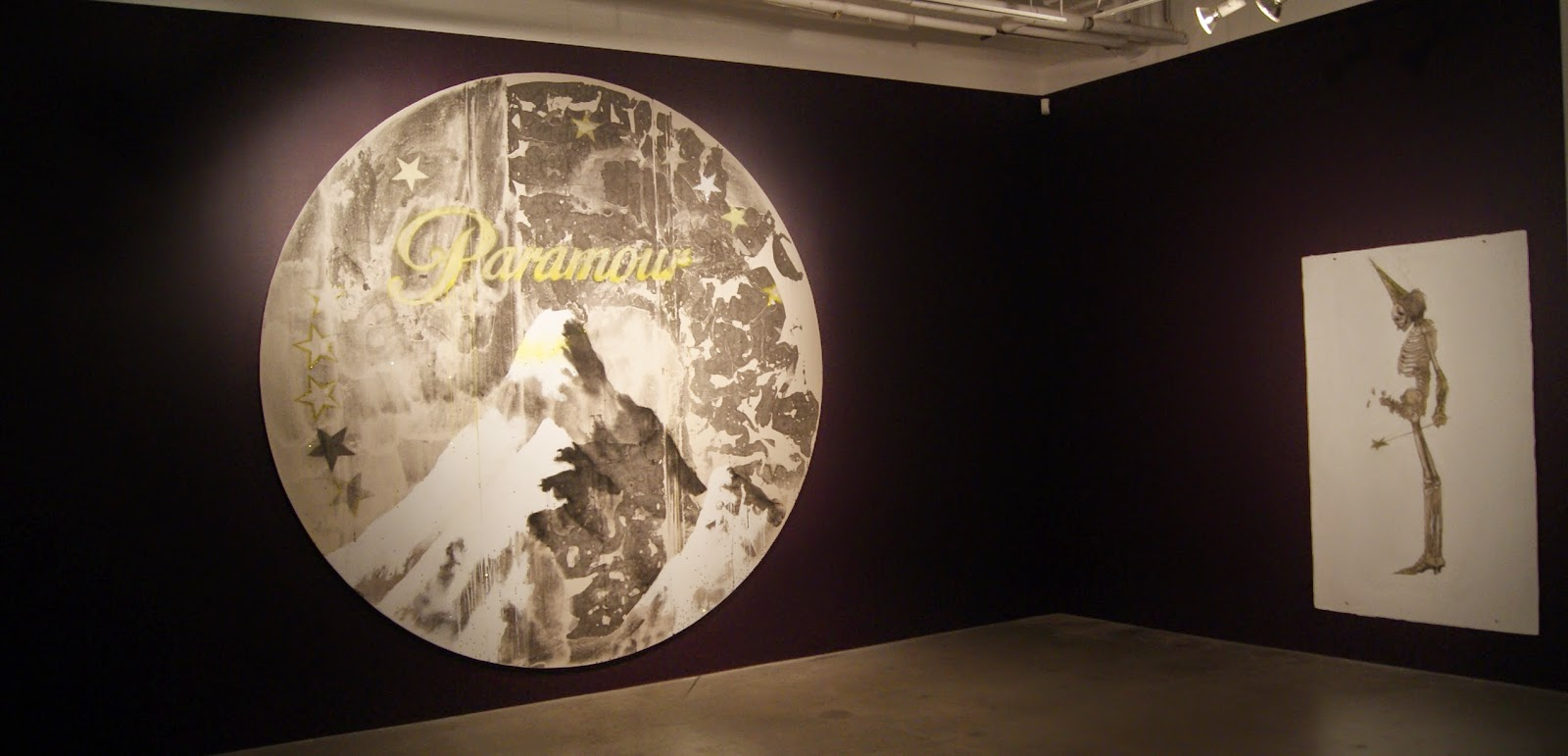 Par Amour/ Paramour Exhibit at MOCCA: Paramour, 2012, and Morte Fae, 2012 by Jean-Luc Verna, culture, Toronto, art, artmatters, painting, drawings, photographs, world pride, Canada, The purplescarf, Melanie_Ps, Museum, Contemporary, Queer, AIDS,