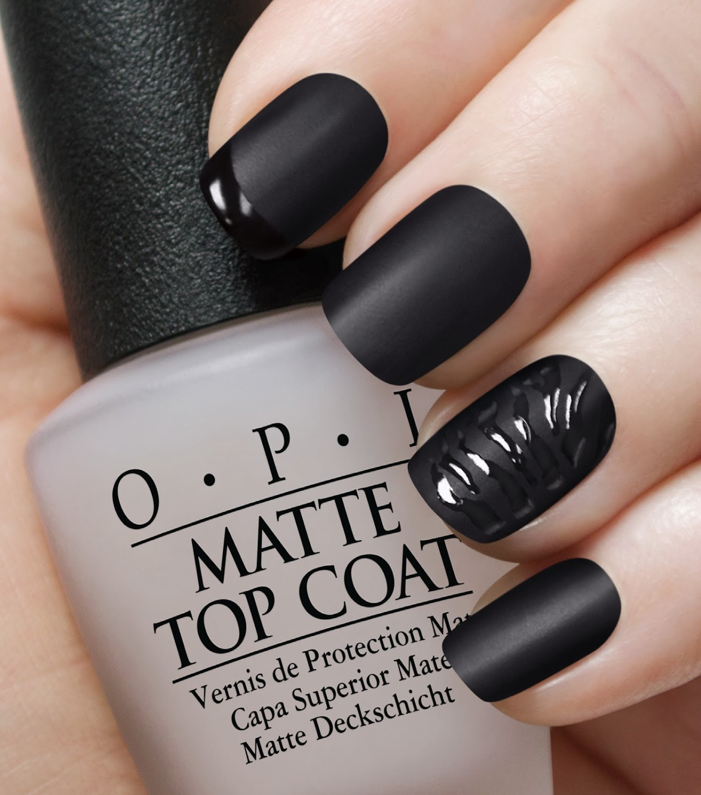 62 Best Pretty Nail Polish Colors For Black Girls Images: OPI Matte Top Coat & The Bond Girls