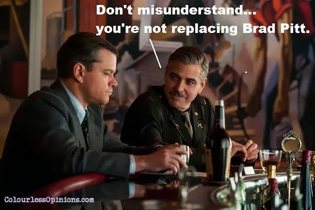 Matt Damon & George Clooney in Monuments Men movie still