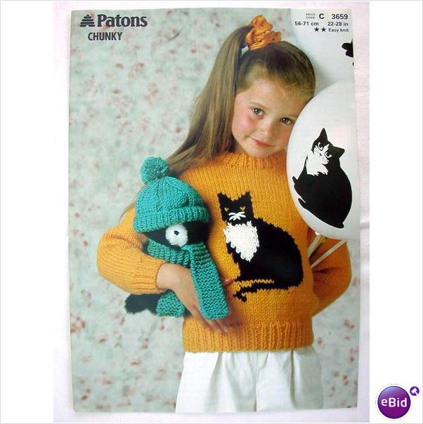 Knitting Pattern For Cat Sweater : V & M: Cat sweater knitting patterns at ebid