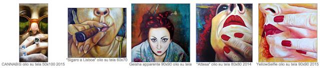 """Opere di Monica Spicciani esposte da Onart gallery Firenze ne """"L'evoluzione del ritratto"""""""