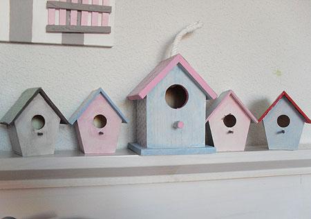 Casitas de pájaros para habitación de niña