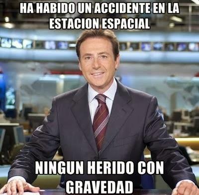 chiste Matías Prats: 'Ha habido un accidente en la estación espacial'