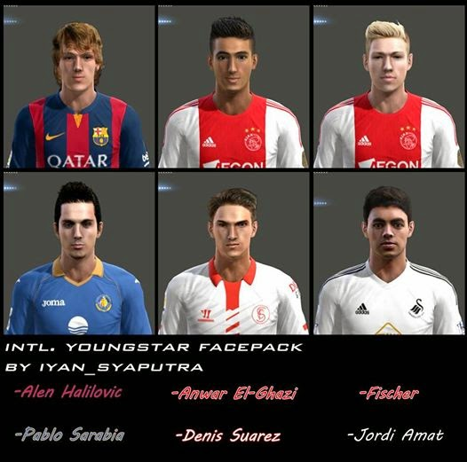 PES 2013 Intl. Youngstar FacePack by iyan_syaputra