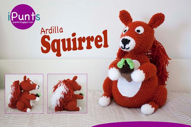 patrón gratis ipunts amigurumi ardilla squirrel muñeco infantil