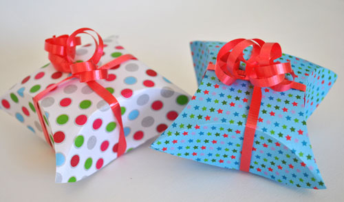 homemade pillow giftbox
