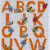 Alfabeto con animales para punto de cruz.