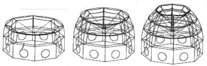 Anillos horizontales de la cúpula catedral de florencia