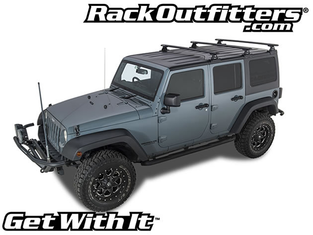 Jeep Wrangler Unlimited Rhino Rack Vortex Rlt600 3 Bar Backbone Black Roof Rack 07 16 Rack