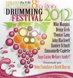 Logroño Drumming Festival 2012 en septiembre con Mike Mangini