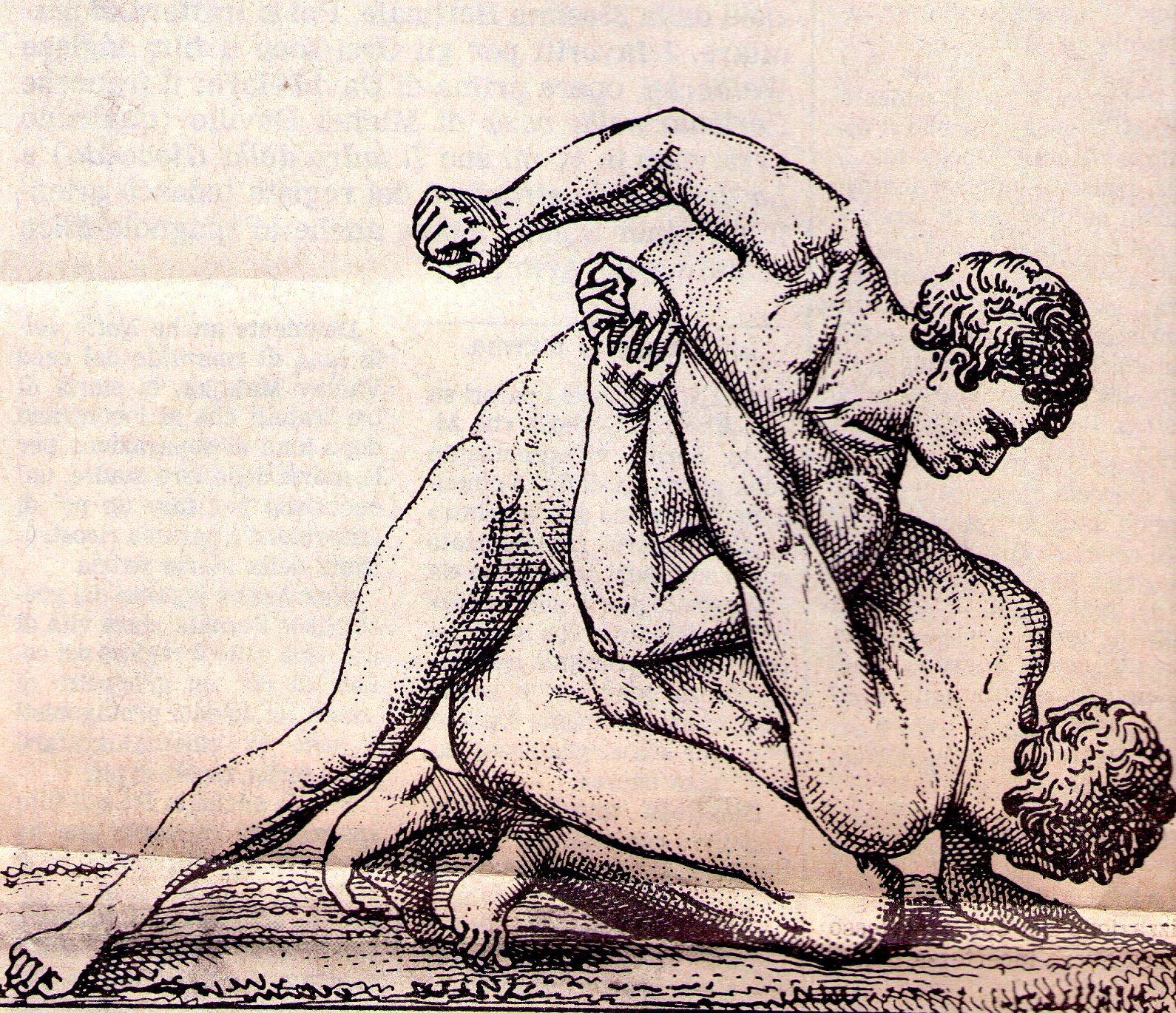 Teseo e il Minotauro Lotta+greca