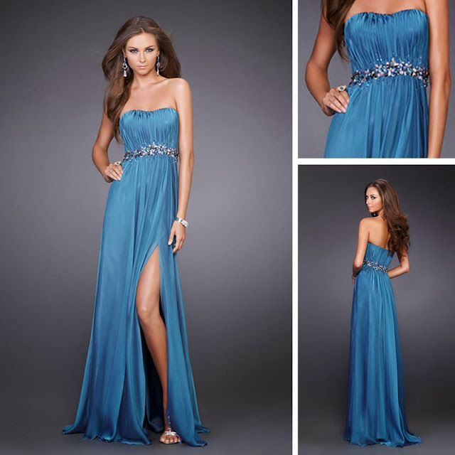 Super designed blue night dress