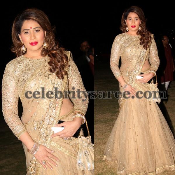 Shreedevi Chowdary Sequins Half Sari