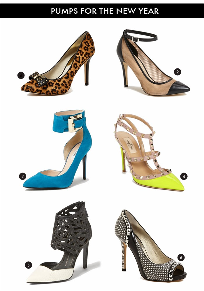 leopard pumps, studded pumps, valentino rockstud pumps, neon yellow pump, blue pump, mesh pump, studded pump