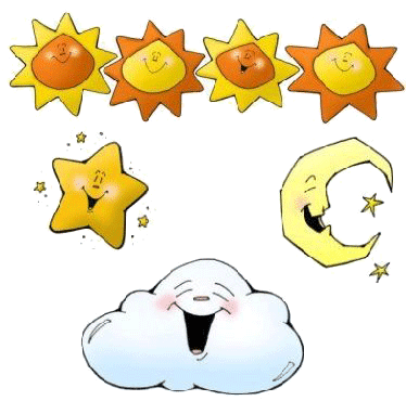 Sol lunas y estrellas