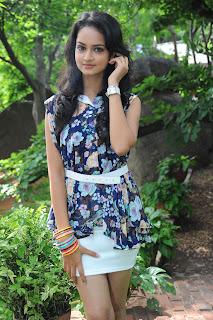 Shanvi Looks Beautiful in Mini Skirt at Ada Movie Opening