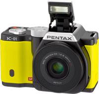 Pentax K-01 в желтом цвете