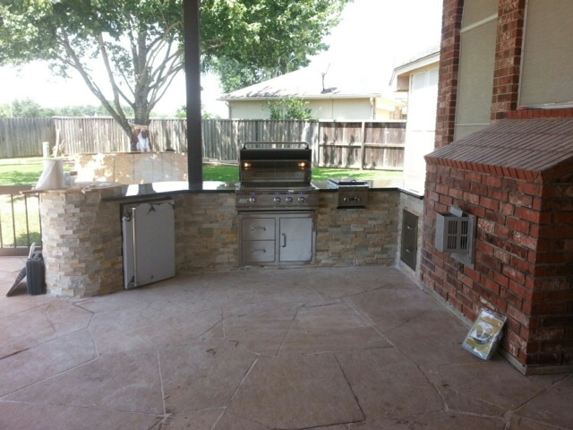 Backyard Grill Houston :  Custom Patio Covers, Decks and Pergolas Builder Houston TX