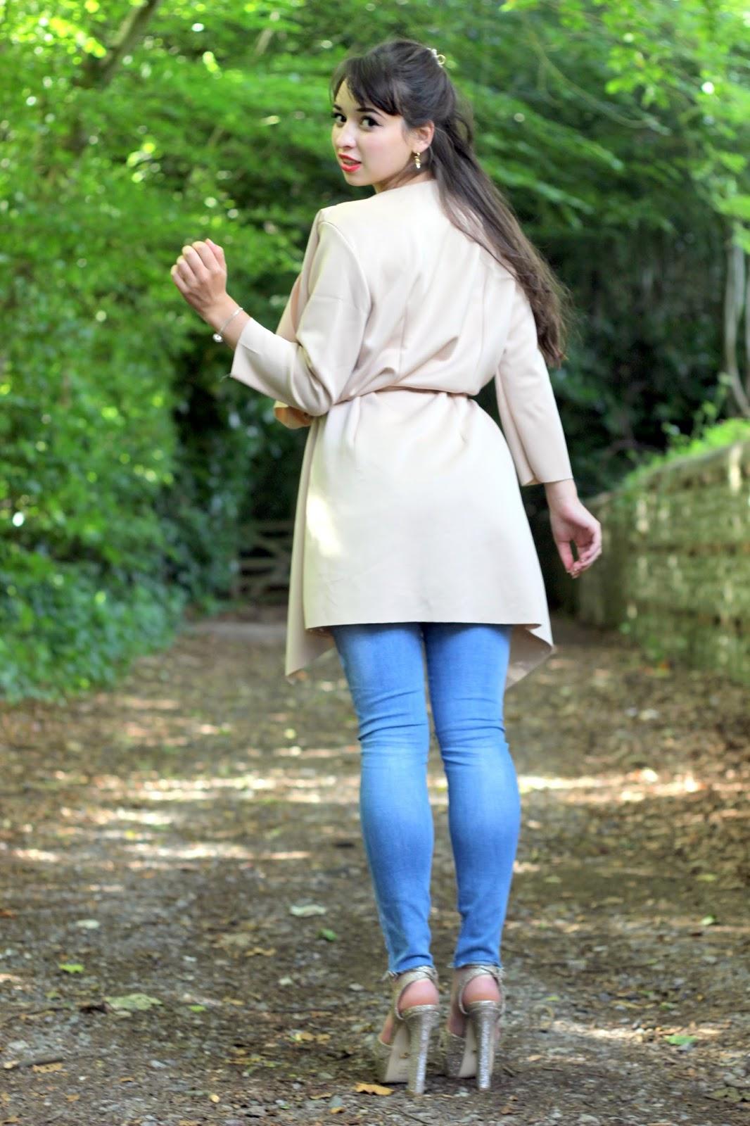 Jeans - C/O Lily Lulu || Waterfall Jacket - C/O Lily Lulu || Heels - Lipsy  || Bracelet - C/O Soufeel