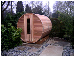Cedar barrel sauna cedar saunas diy sauna kits indoor for Build your own barrel sauna