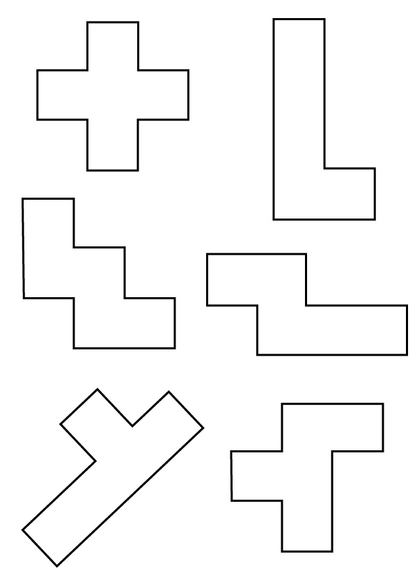 Bright image throughout pentominoes printable
