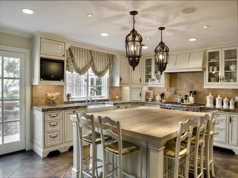 French country kitchen design ideas home and garden ideas for Country kitchen home plans