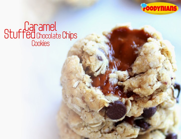 Caramel-Stuffed Chocolate Chip Cookie