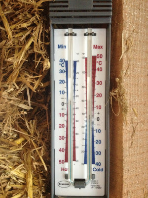 Thermometer at zero degrees celsius