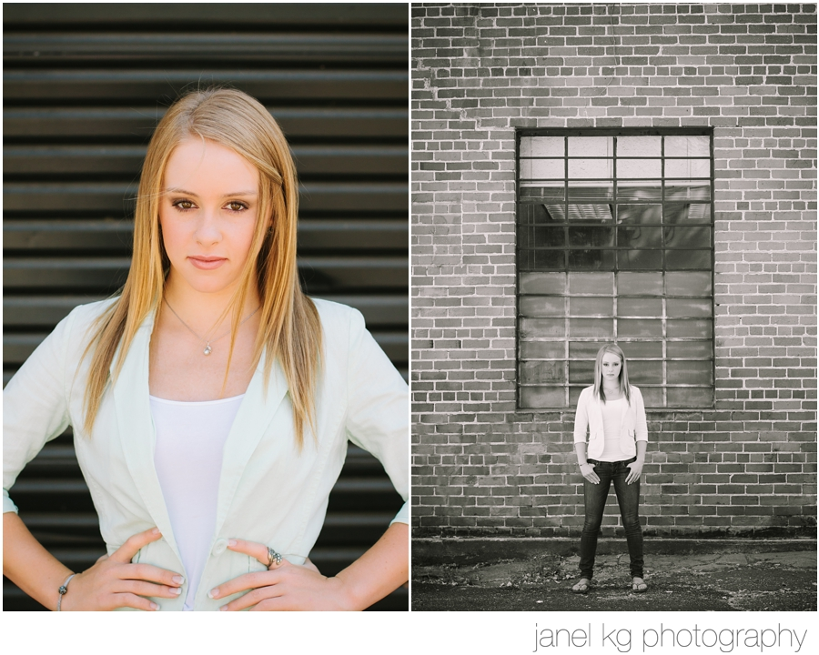 Sacramento senior portrait shoot with Janel KG Photography... Audrey giving me that fierce gaze!