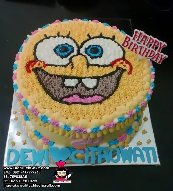 Kue Tart Spongebob Daerah Surabaya - Sidoarjo
