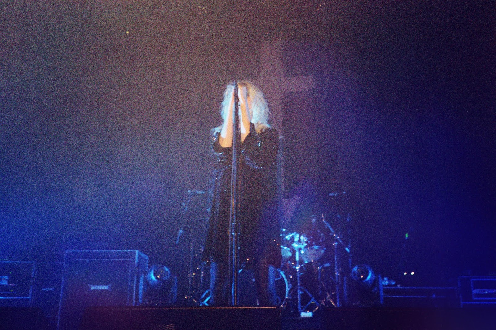 35mm photo of Taylor Momsen on stage in San Francisco.