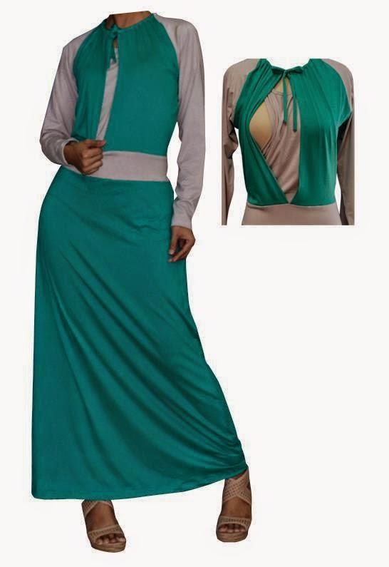 Model Baju Menyusui Muslimah Gamis Warna Hijau