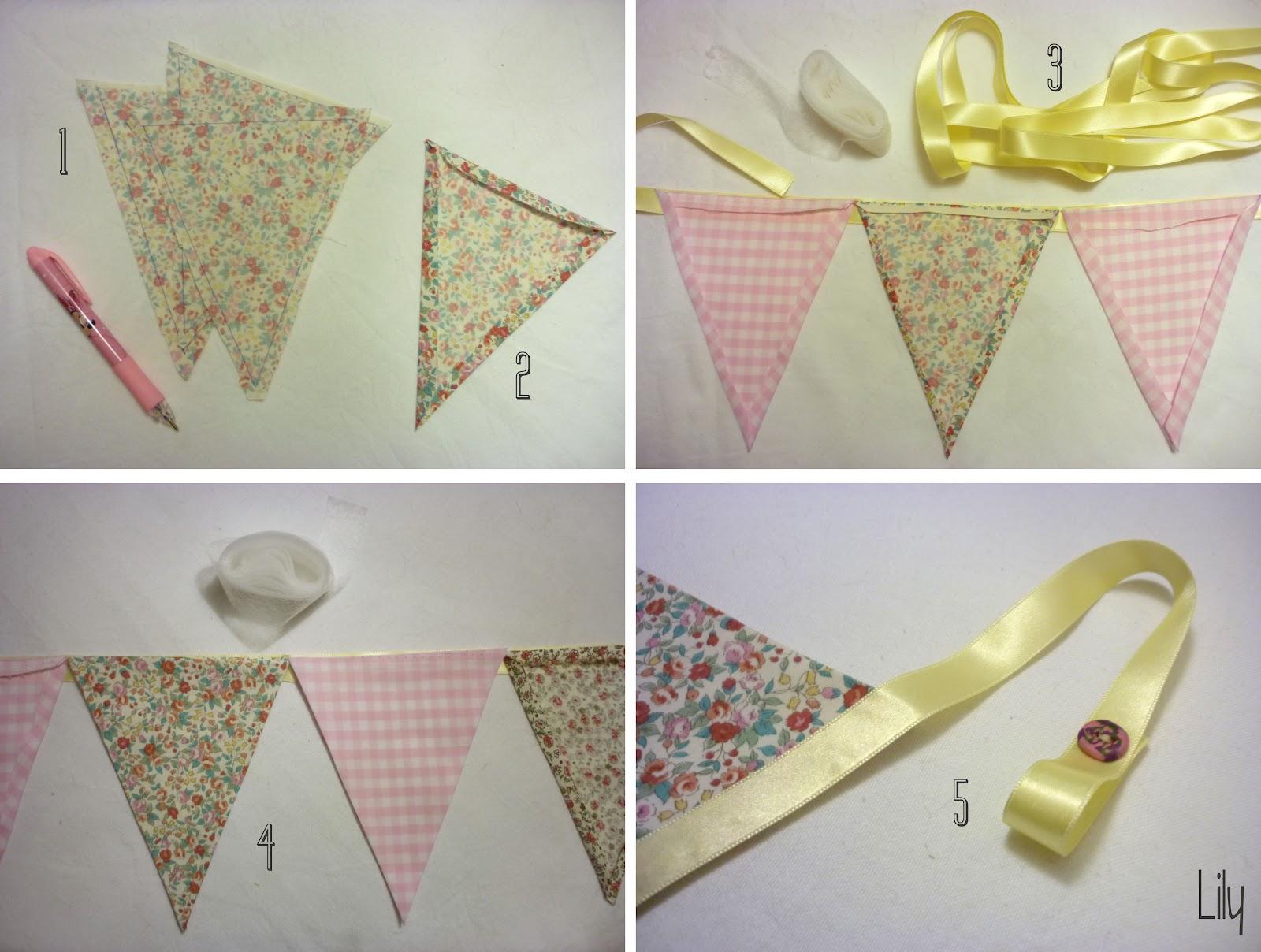 Une guirlande en tissus sans couture ou presque lily - Comment enlever du stylo sur du tissu ...