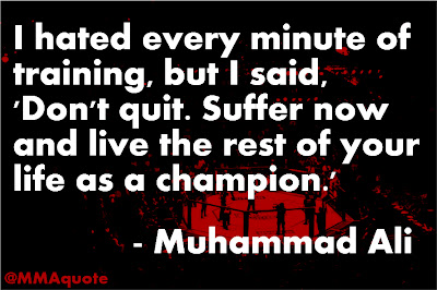 Muhammad ali on suffering in training