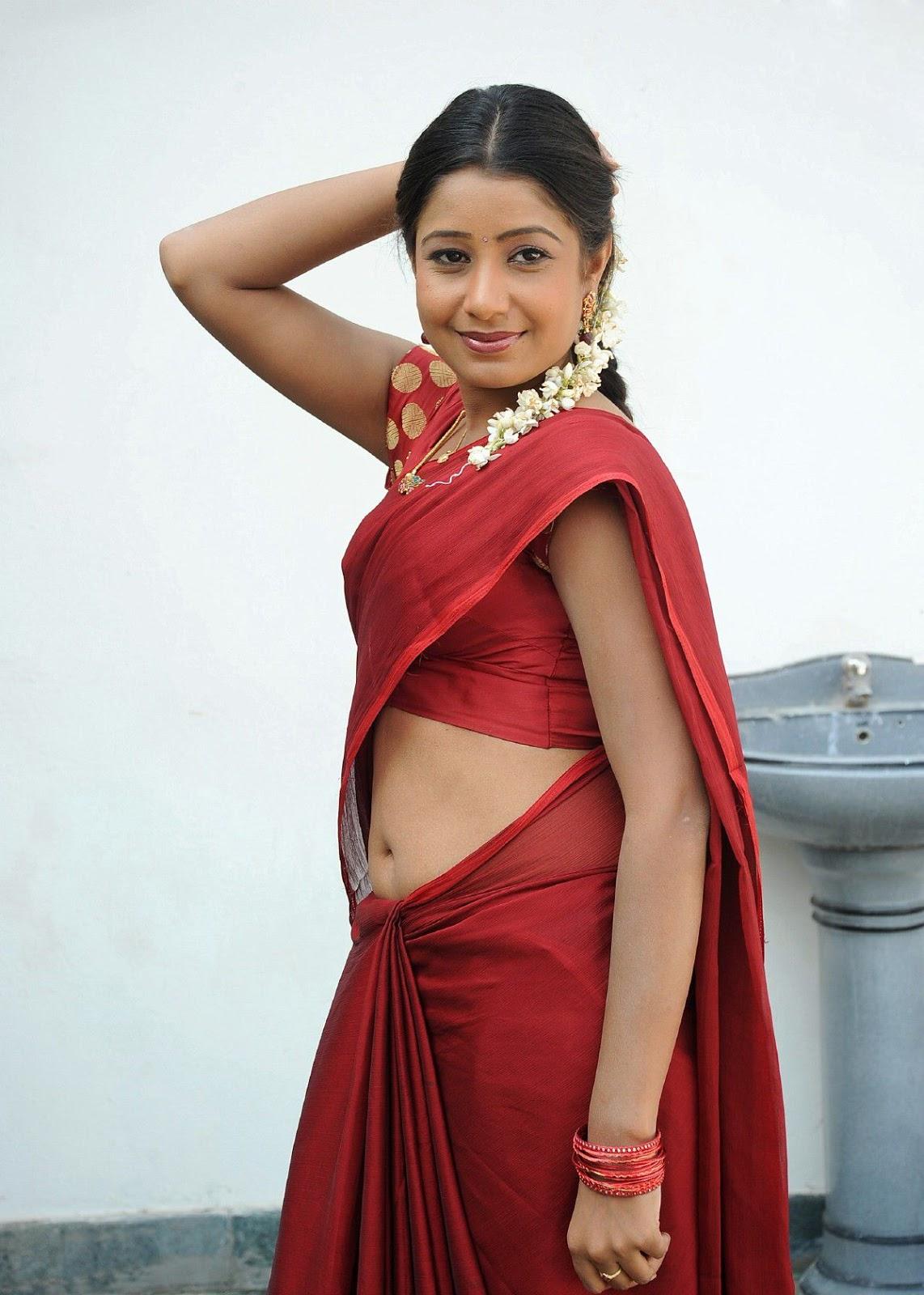 Dressing Below Navel Saree: Reshmi in Hot Navel Saree