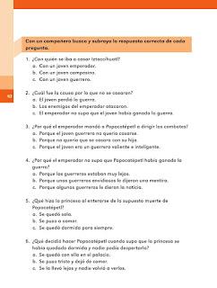 Apoyo Primaria Español 2do grado Bloque 2 lección 5 La leyenda de los volcanes