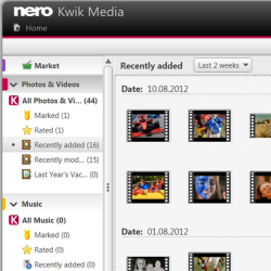 برنامج Nero kwik Media لفتح الملفات المرئية و الصوتية
