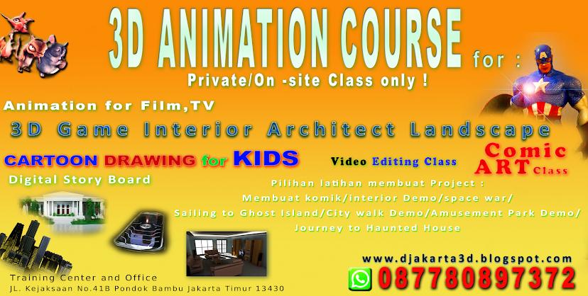 Sekolah Animasi Jakarta | Kursus Animasi 3D | Sekolahanimasijakarta.com