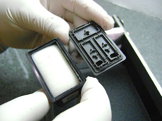 esponja de los cartuchos de tinta