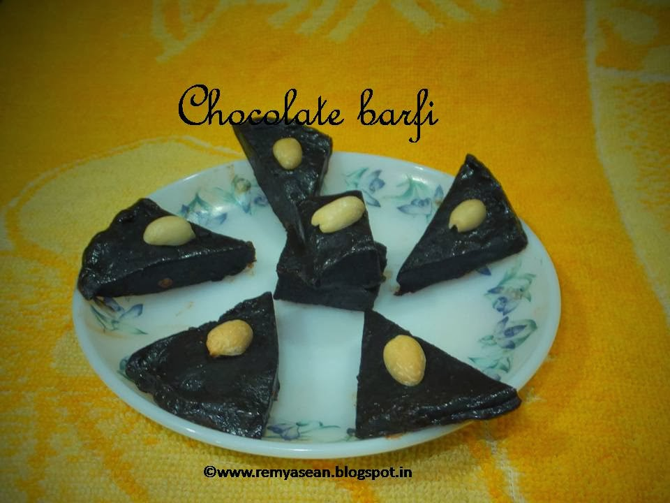 chocolate burfi