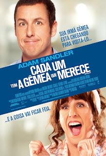 Pôster/capa/cartaz nacional de CADA UM TEM A GÊMEA QUE MERECE (Jack and Jill)