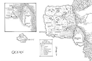 The Seven Kingdoms map from the Graceling series by Kristin Cashore