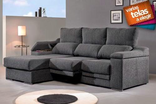 Oferta sof tres plazas con chaise online sofas chaise for Sofas deslizantes baratos