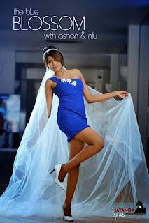 Nilu Tanasha blue legs kakul