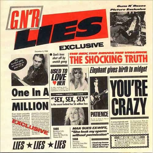 Guns N' Roses Lies CD Capa