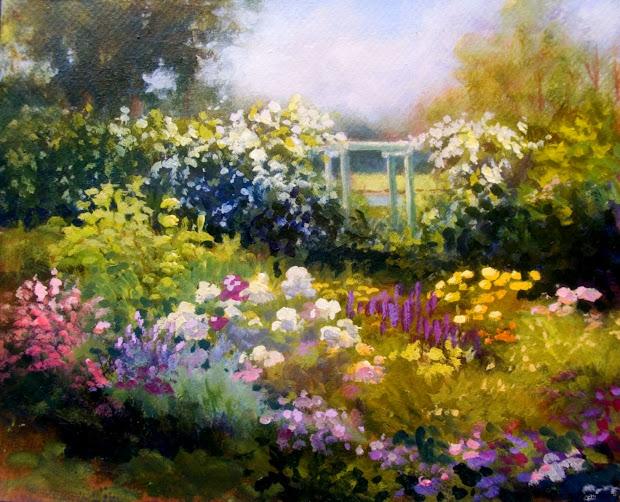 beautiful spring painting