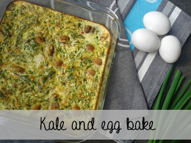 Welcome to Mommyhood - Easy healthy recipes: Kale and egg bake