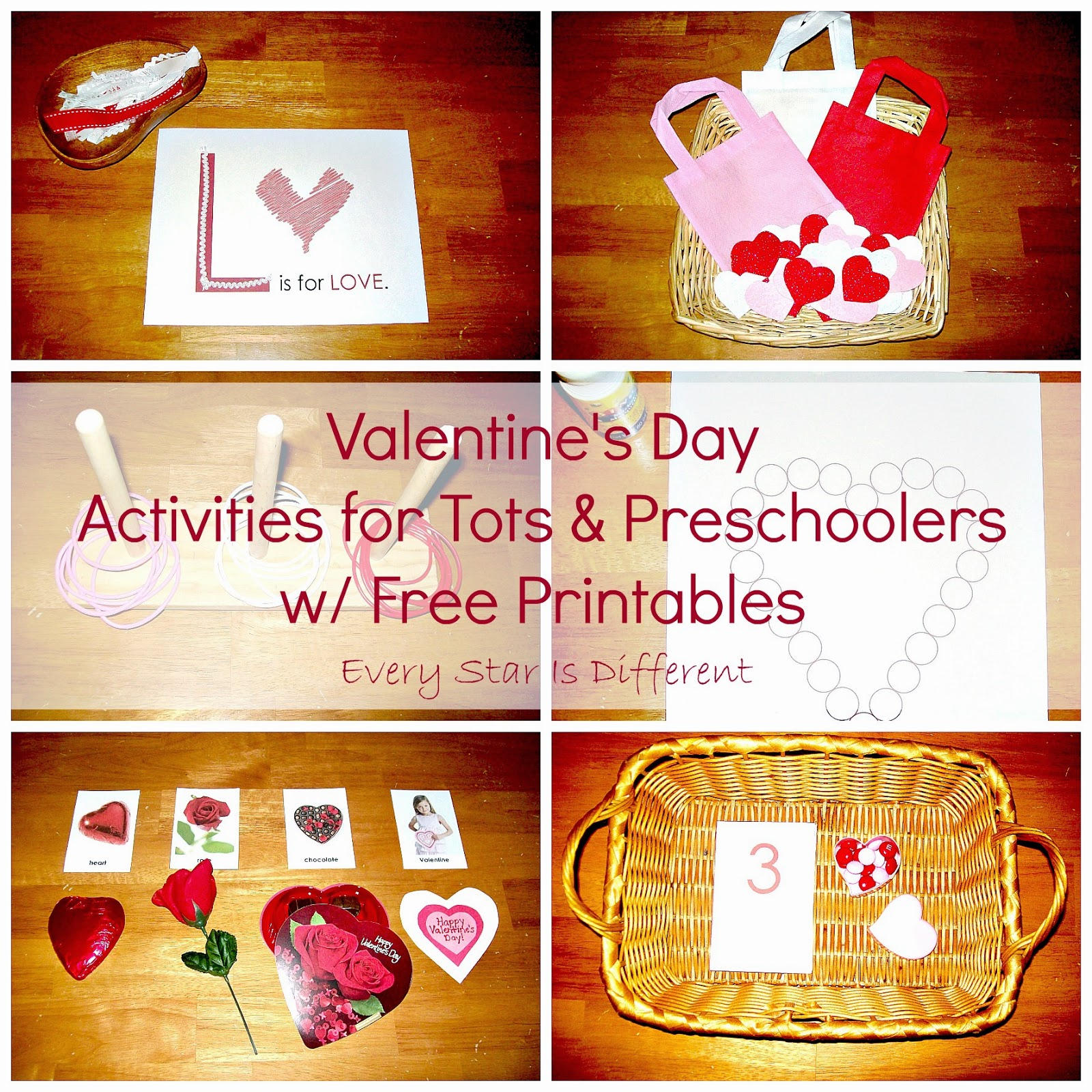 valentine's day tot activities - every star is different, Ideas