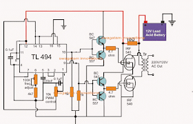 Simplest PWM Modified Sine Wave Inverter Circuit Using IC TL494