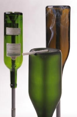 bottle ashtrays